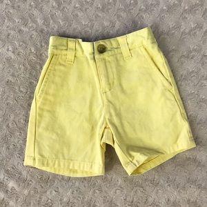 Janie and Jack Light Yellow Shorts Dressy 6-12M